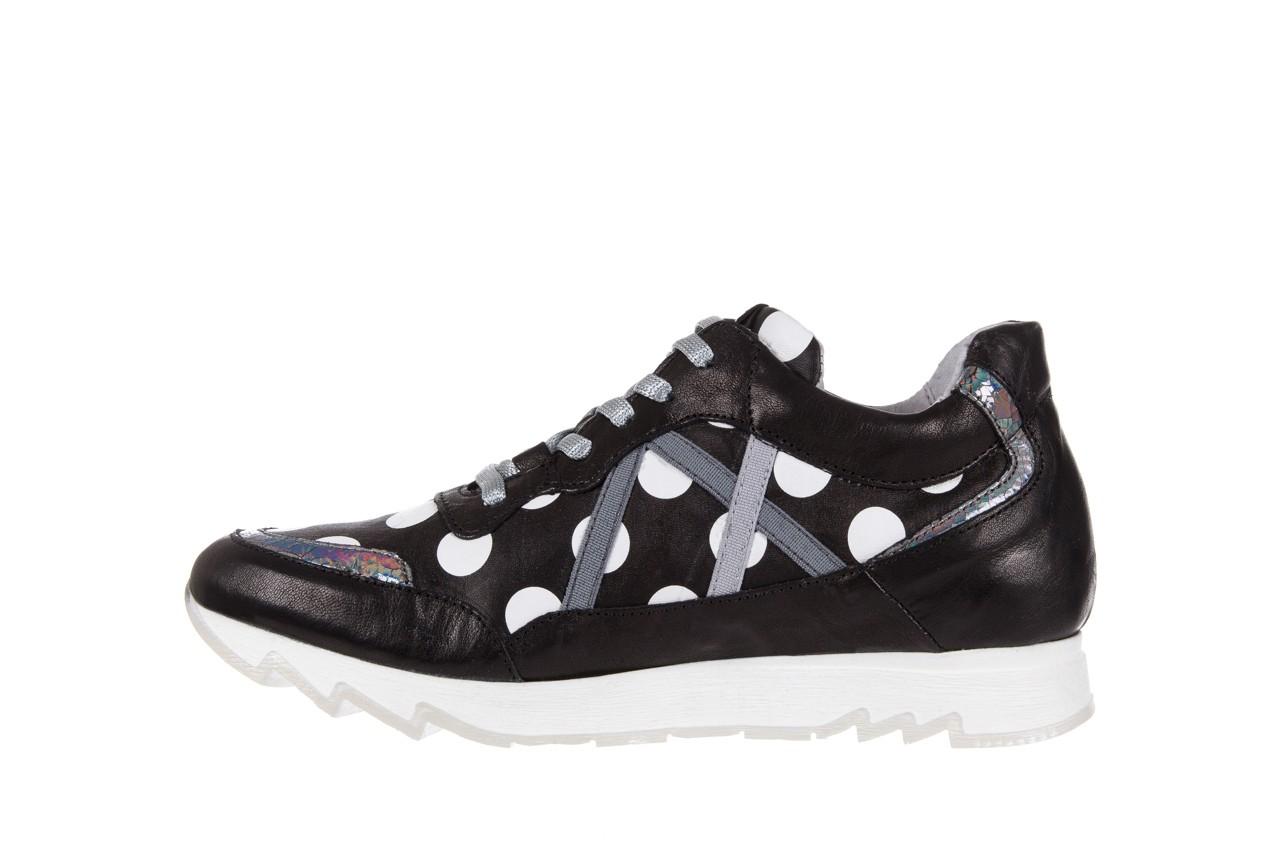 Sneakersy bayla-131 8407 nero, czarny, skóra naturalna  - bayla - nasze marki 8