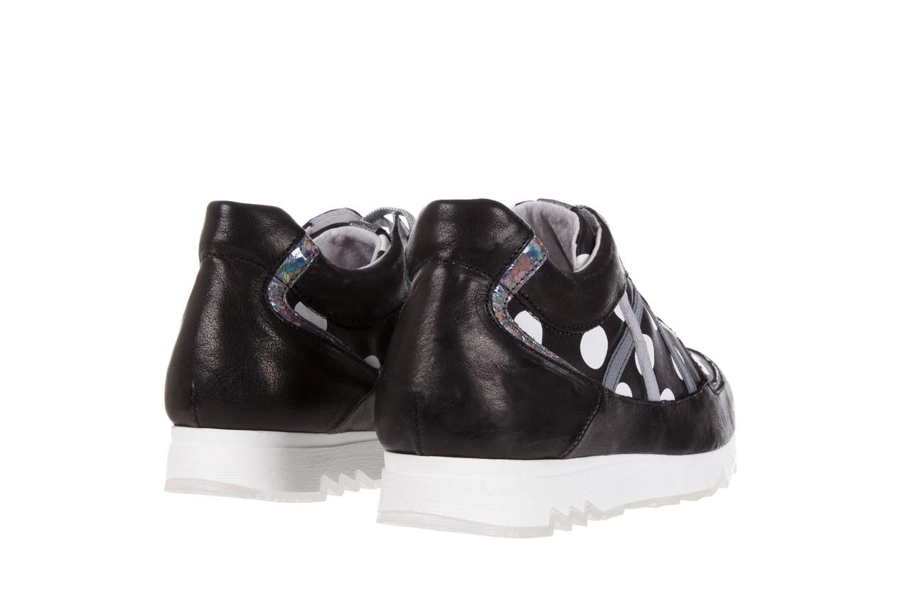 Sneakersy bayla-131 8407 nero, czarny, skóra naturalna  - bayla - nasze marki 9