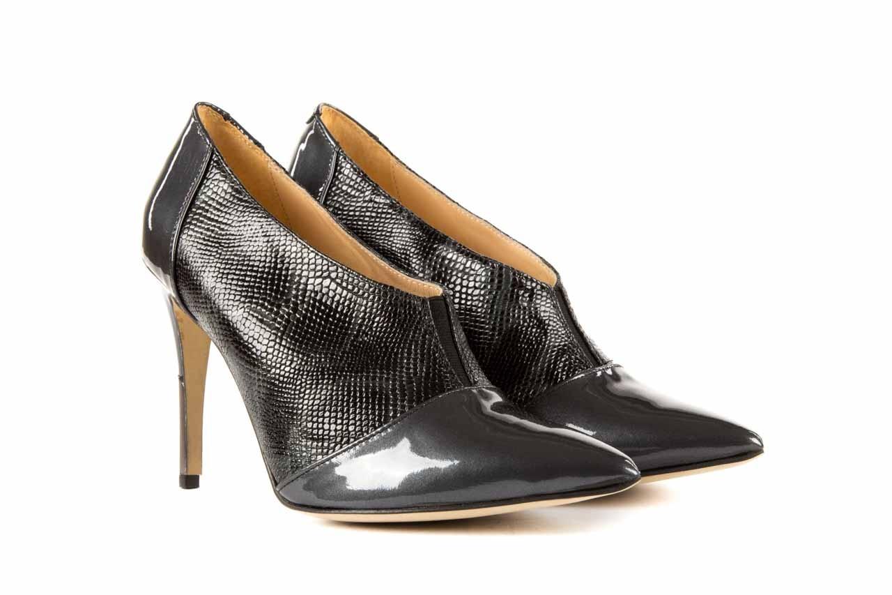 Szpilki bayla-622 34240 antracyt-szary, skóra naturalna lakierowana - na szpilce - botki - buty damskie - kobieta 7