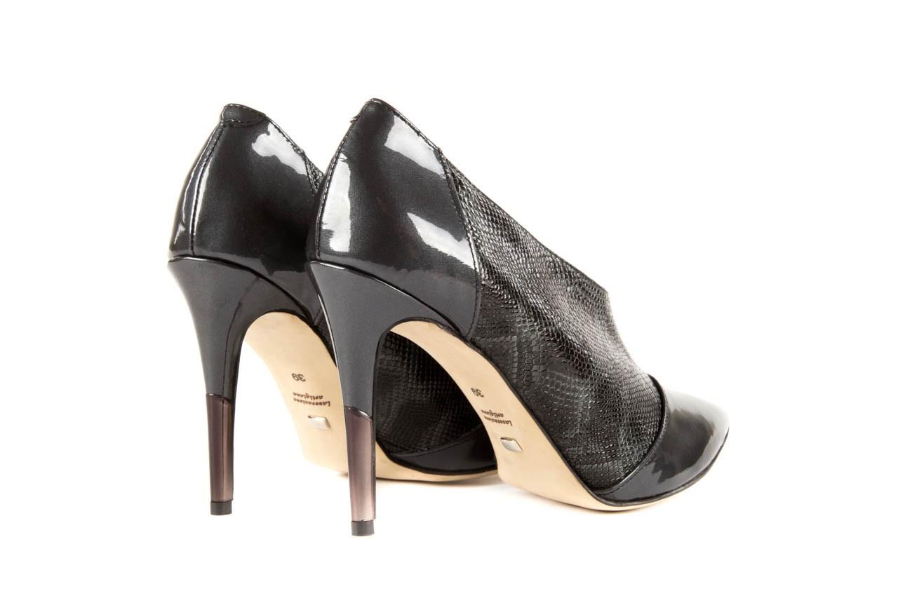 Szpilki bayla-622 34240 antracyt-szary, skóra naturalna lakierowana - na szpilce - botki - buty damskie - kobieta 9