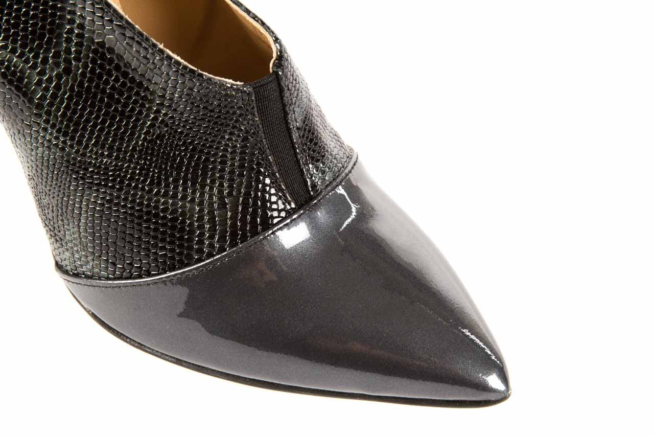 Szpilki bayla-622 34240 antracyt-szary, skóra naturalna lakierowana - na szpilce - botki - buty damskie - kobieta 10
