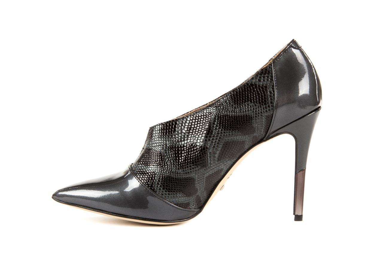 Szpilki bayla-622 34240 antracyt-szary, skóra naturalna lakierowana - na szpilce - botki - buty damskie - kobieta 8