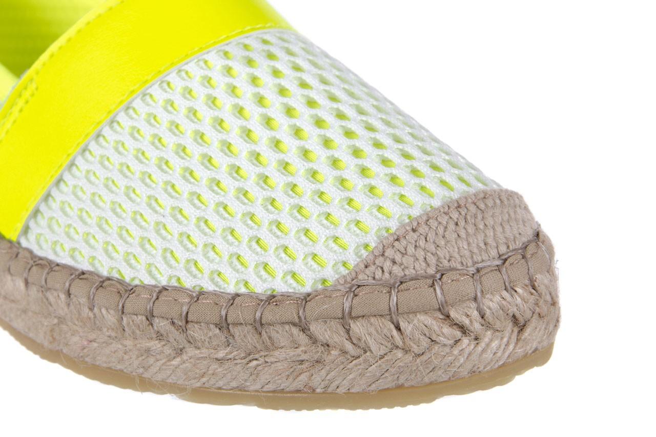 Espadryle bayla-115 104130 amarillo, żółty/ biały, materiał  - espadryle - dla niej  - sale 13