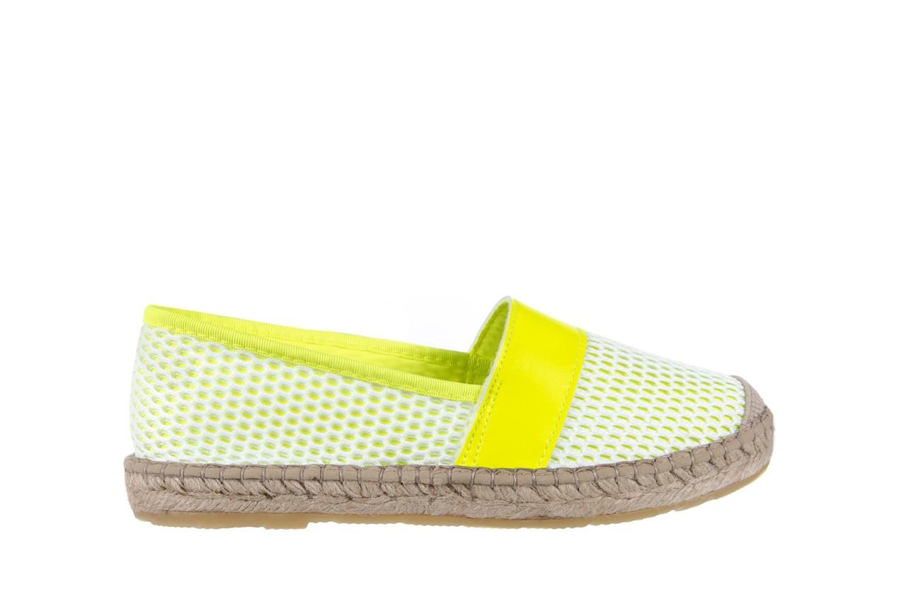 Espadryle bayla-115 104130 amarillo, żółty/ biały, materiał  - espadryle - dla niej  - sale 7
