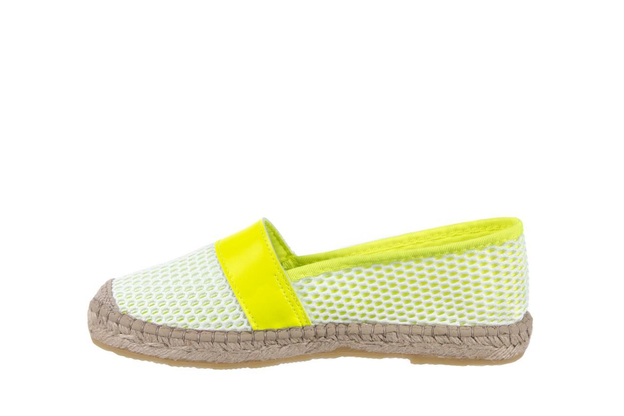 Espadryle bayla-115 104130 amarillo, żółty/ biały, materiał  - espadryle - dla niej  - sale 9