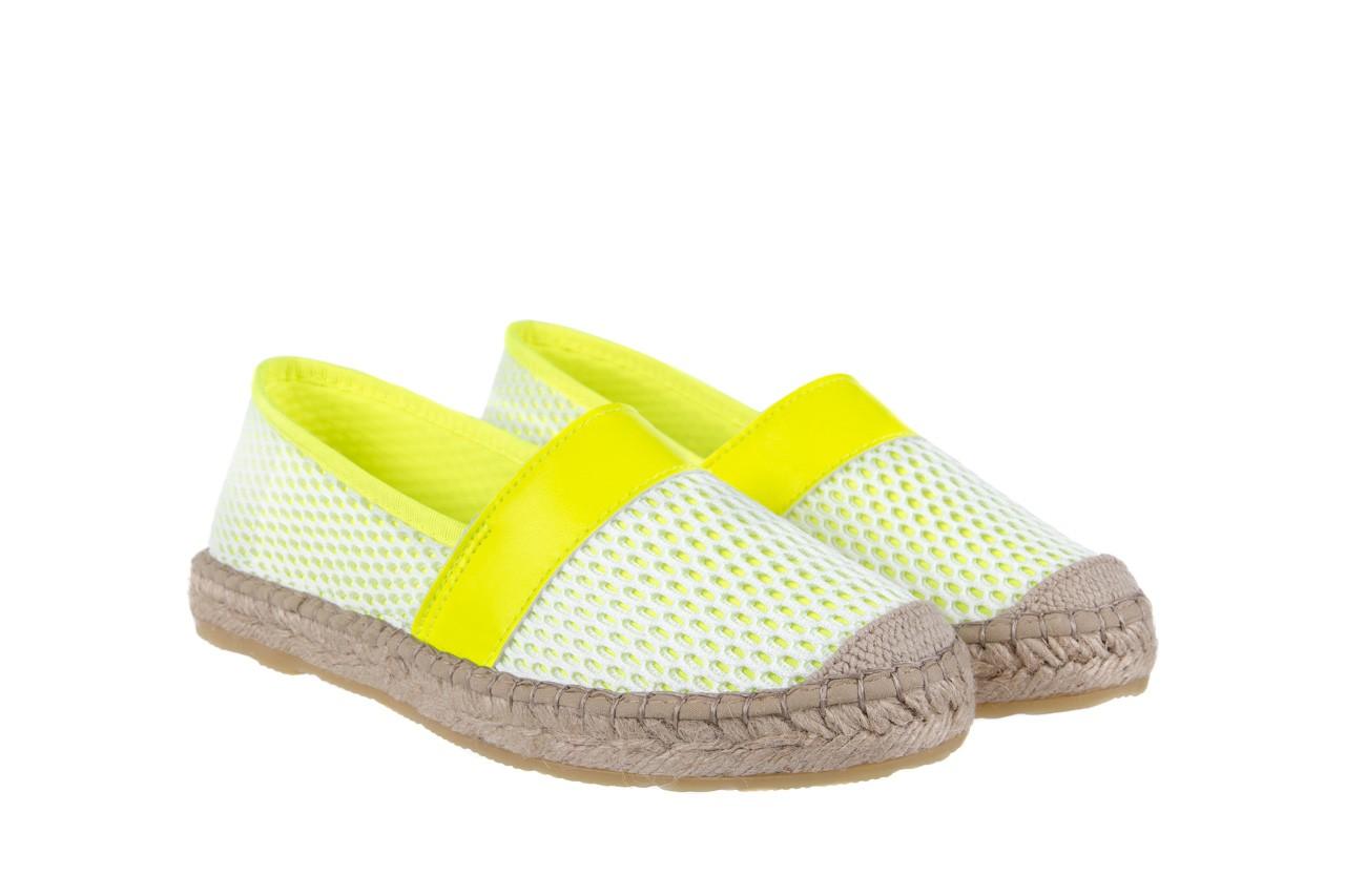 Espadryle bayla-115 104130 amarillo, żółty/ biały, materiał  - espadryle - dla niej  - sale 8