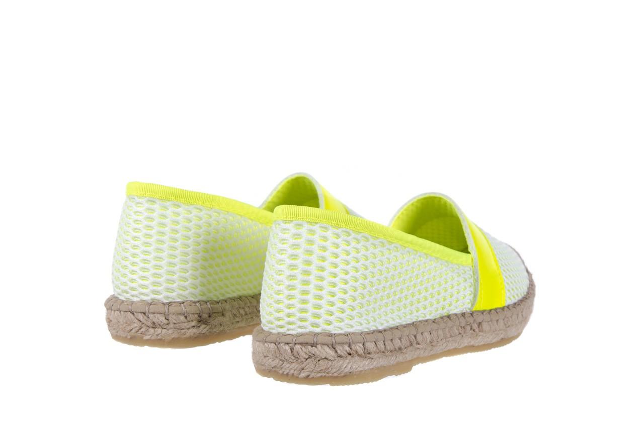 Espadryle bayla-115 104130 amarillo, żółty/ biały, materiał  - espadryle - dla niej  - sale 10