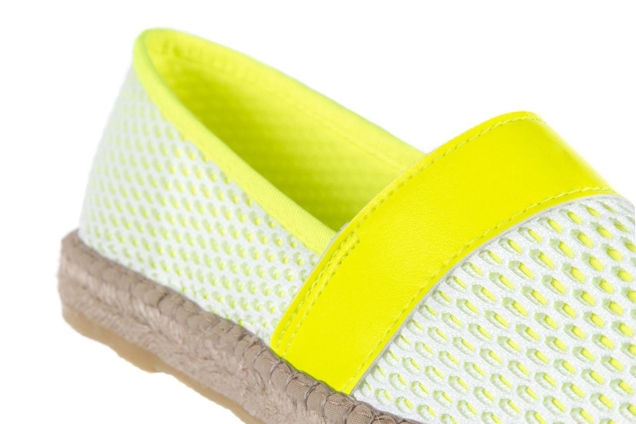 Espadryle bayla-115 104130 amarillo, żółty/ biały, materiał  - espadryle - dla niej  - sale 12