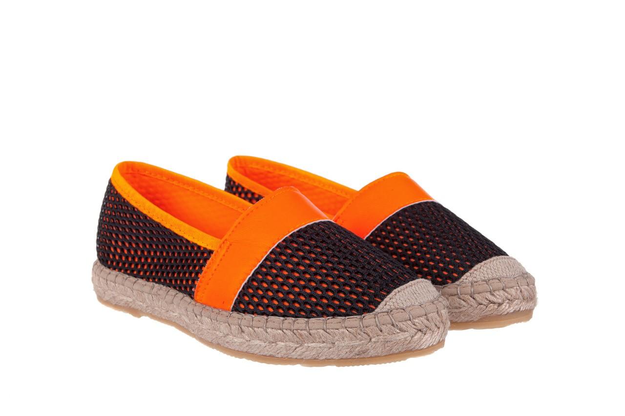 Espadryle bayla-115 104130 naranja, czarny/ pomarańczowy, materiał  - espadryle - dla niej  - sale 8