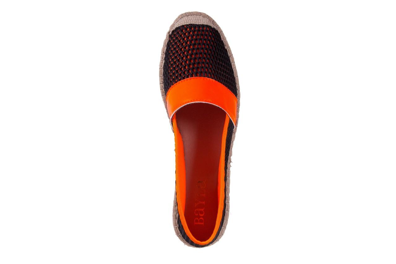 Espadryle bayla-115 104130 naranja, czarny/ pomarańczowy, materiał  - espadryle - dla niej  - sale 11