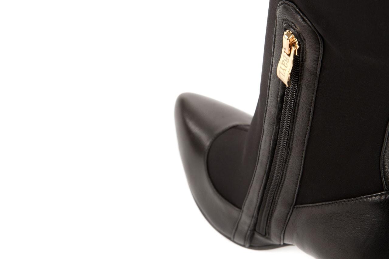 Kozaki bayla-106 4222008 czarne, skóra naturalna - z elastyczną cholewką / stretch - kozaki - buty damskie - kobieta 9