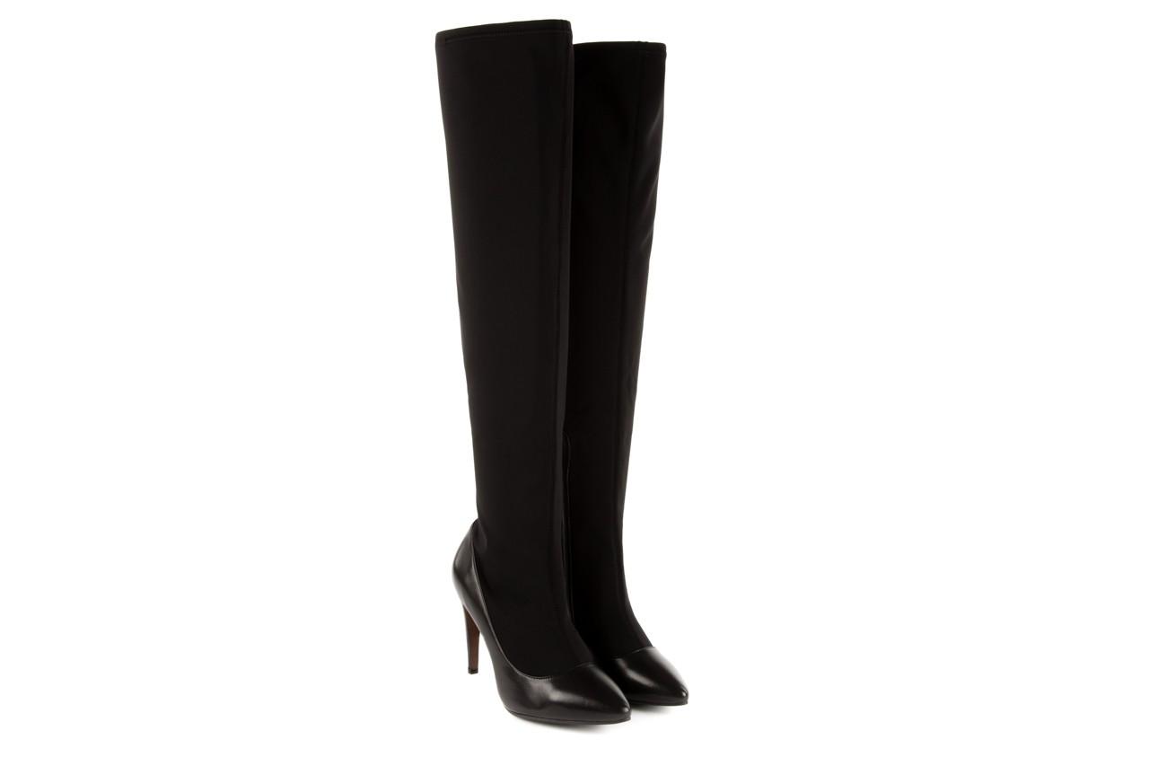 Kozaki bayla-106 4222008 czarne, skóra naturalna - z elastyczną cholewką / stretch - kozaki - buty damskie - kobieta 6