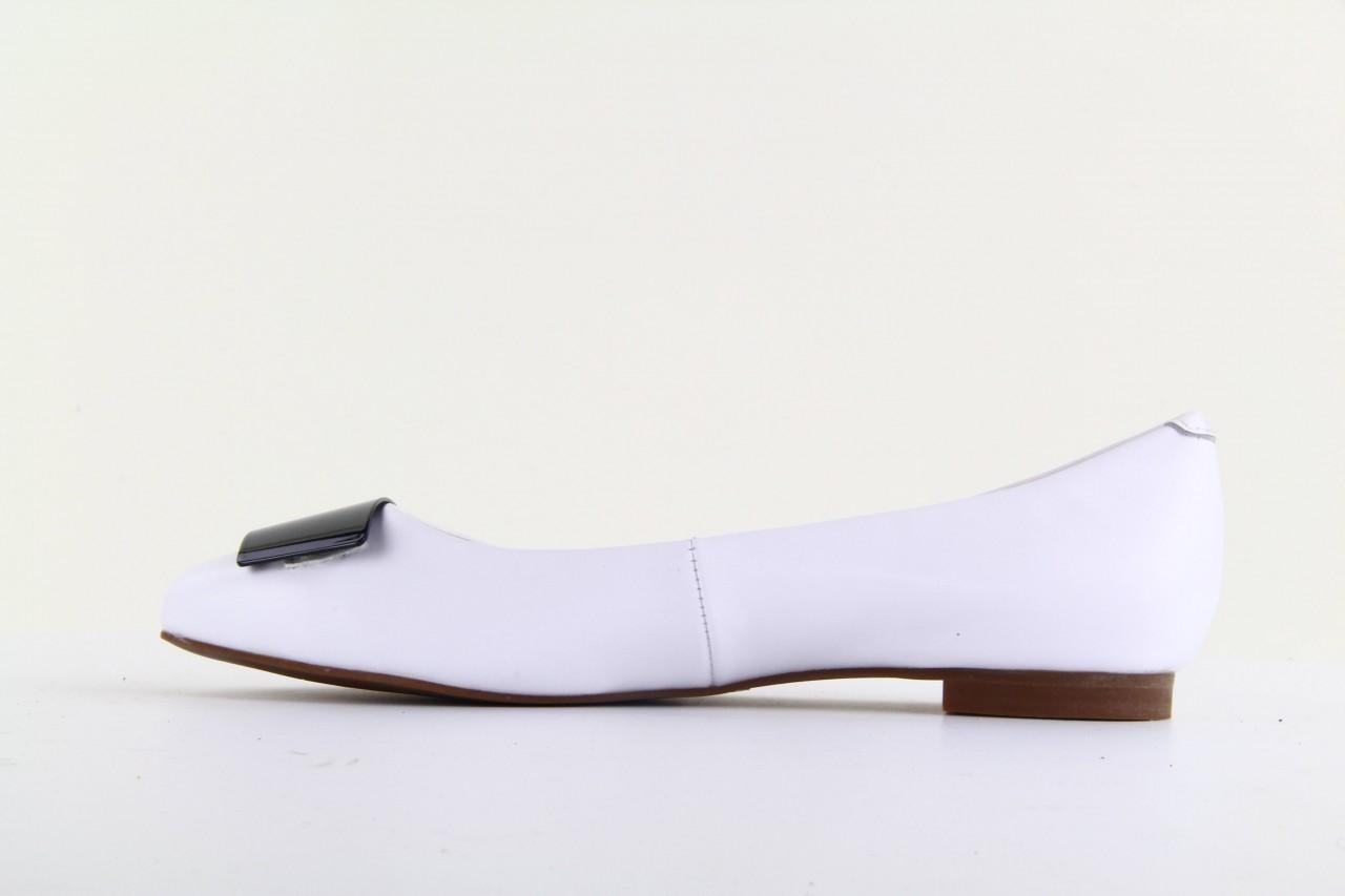 Baleriny bayla 1072-149 white, biały, skóra naturalna - bayla - nasze marki 8