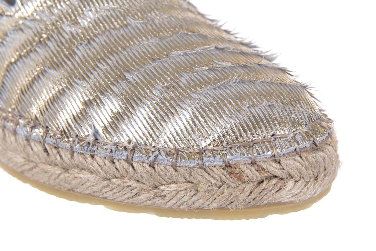 Espadryle bayla-115 107730 oro, złoty, materiał - espadryle - dla niej  - sale 12