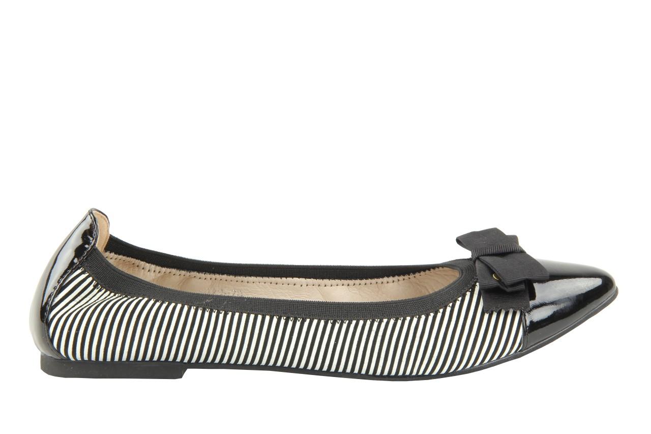 Bayla 1329-20 black white stripe leather-black patent - bayla - nasze marki 6