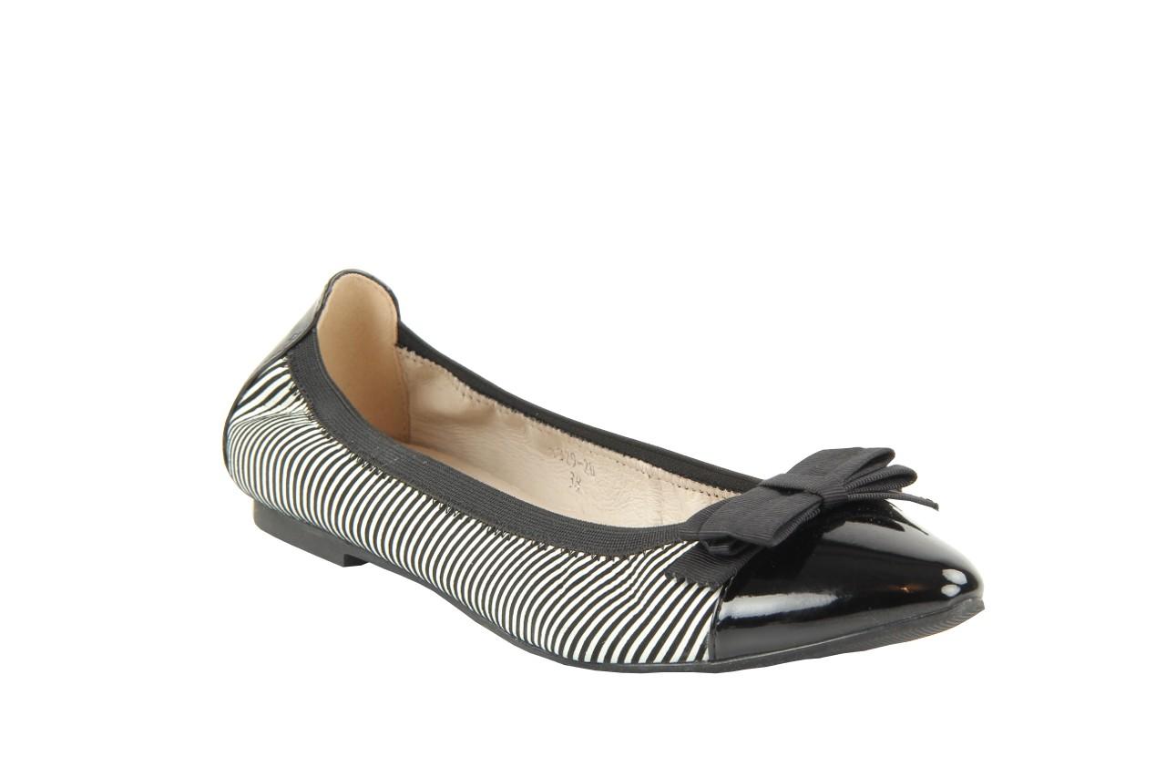 Bayla 1329-20 black white stripe leather-black patent - bayla - nasze marki 10
