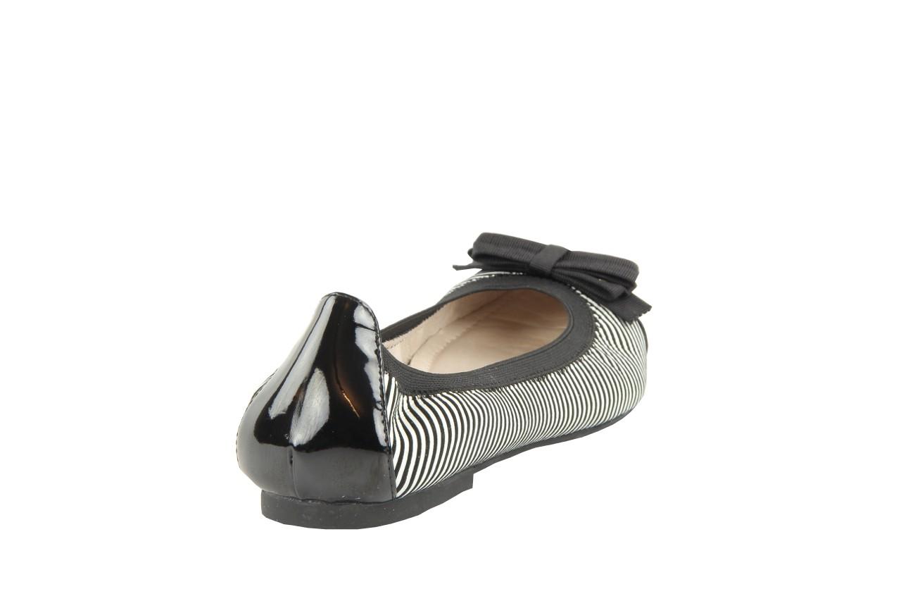 Bayla 1329-20 black white stripe leather-black patent - bayla - nasze marki 11