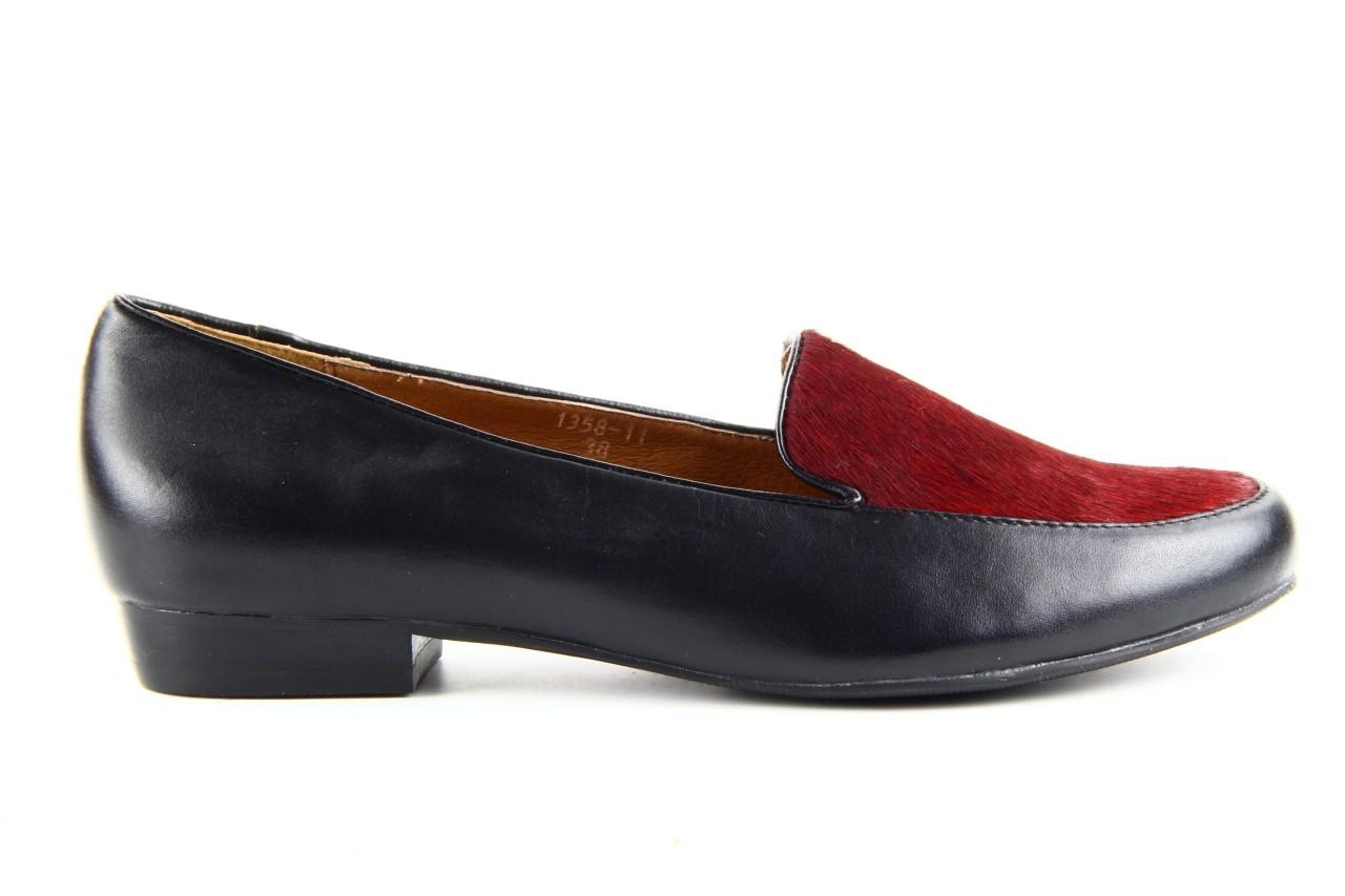 Lordsy bayla 1358-11 black burgundy black, czarny/ bordo, skóra naturalna  - bayla - nasze marki 11