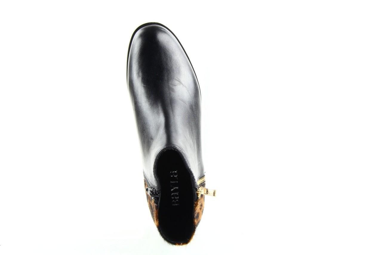 Botki bayla 1555h-5 black brown, czarny, skóra naturalna  - bayla - nasze marki 7