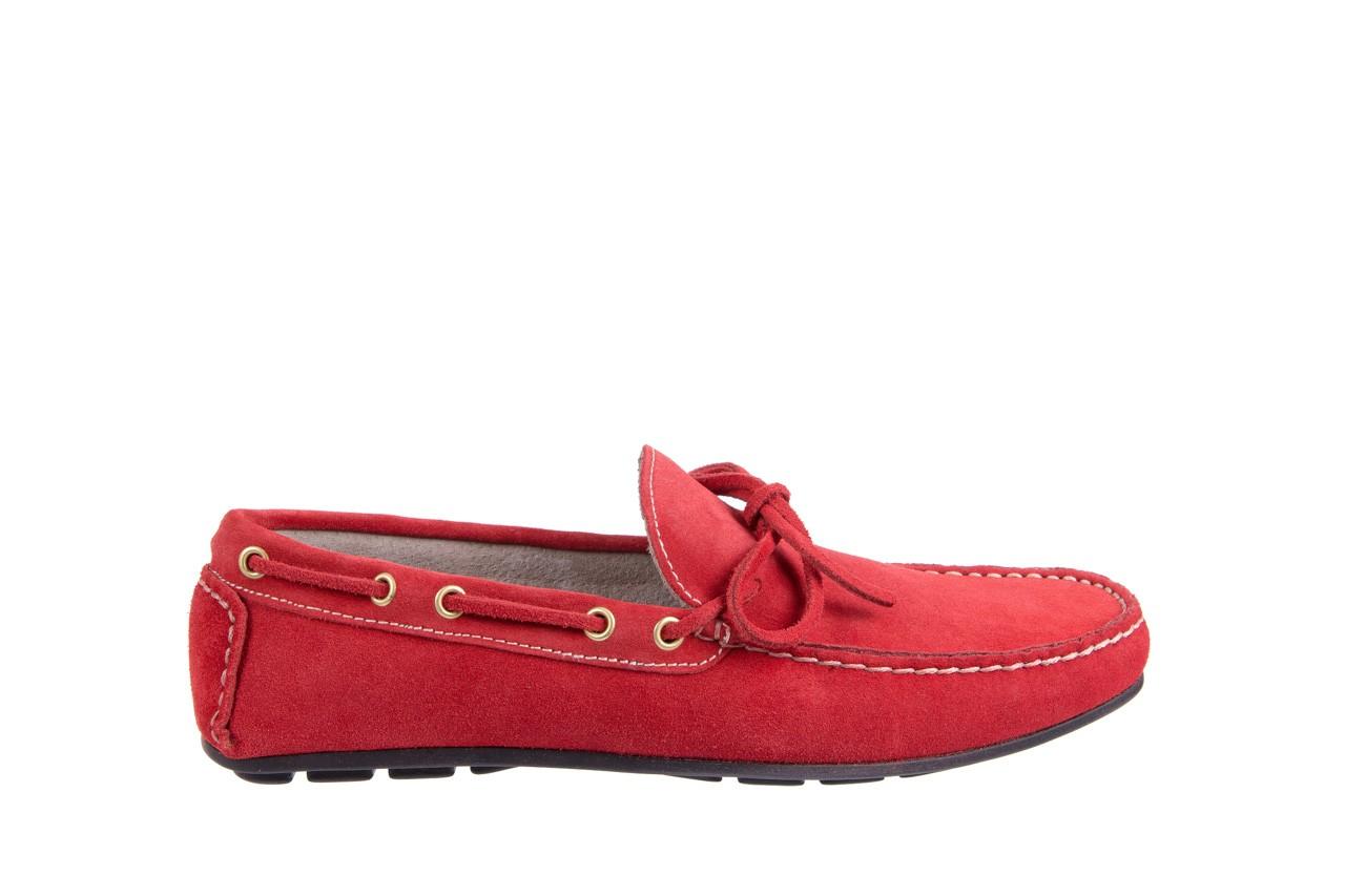 Mokasyny bayla-133 6102 camoscio rosso, czerwony, skóra naturalna  - mokasyny i espadryle - buty męskie - mężczyzna 6