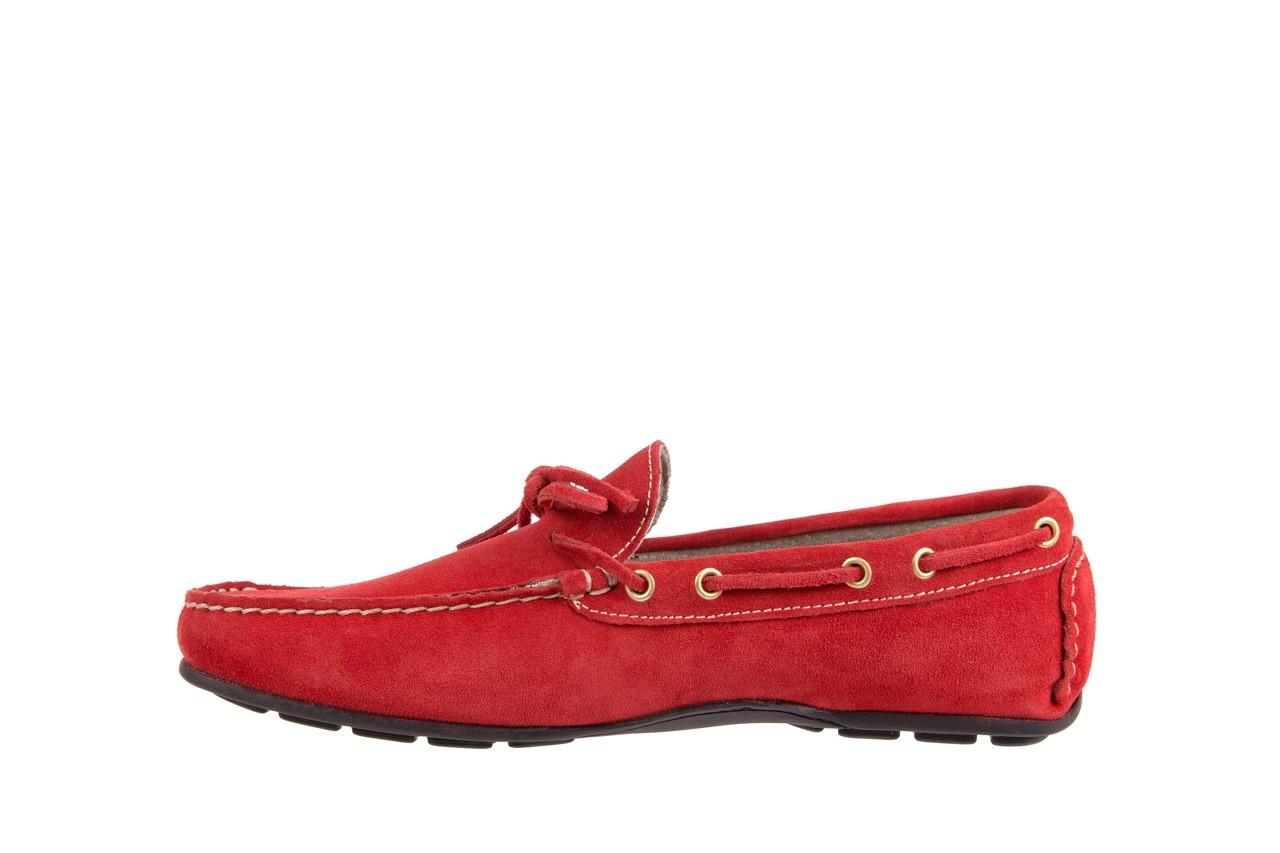 Mokasyny bayla-133 6102 camoscio rosso, czerwony, skóra naturalna  - mokasyny i espadryle - buty męskie - mężczyzna 8