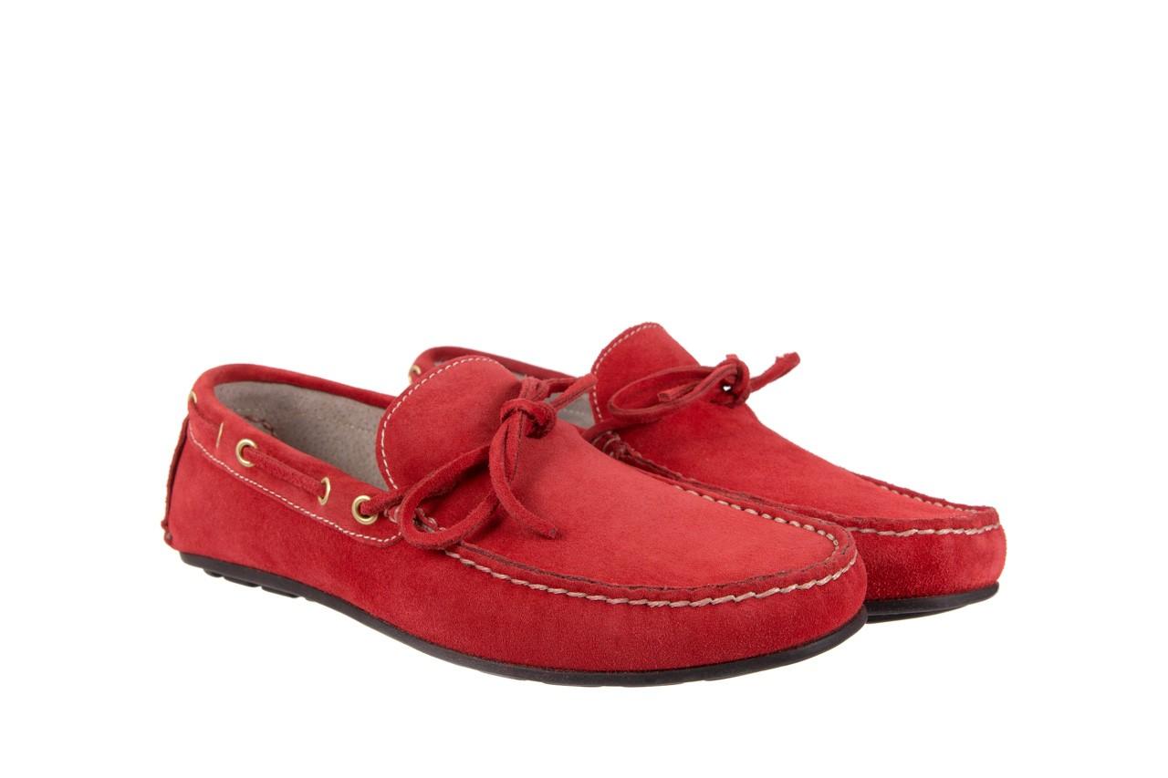 Mokasyny bayla-133 6102 camoscio rosso, czerwony, skóra naturalna  - mokasyny i espadryle - buty męskie - mężczyzna 7