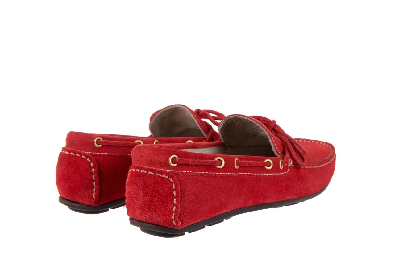 Mokasyny bayla-133 6102 camoscio rosso, czerwony, skóra naturalna  - bayla - nasze marki 9