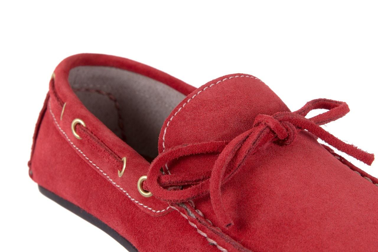 Mokasyny bayla-133 6102 camoscio rosso, czerwony, skóra naturalna  - mokasyny i espadryle - buty męskie - mężczyzna 11