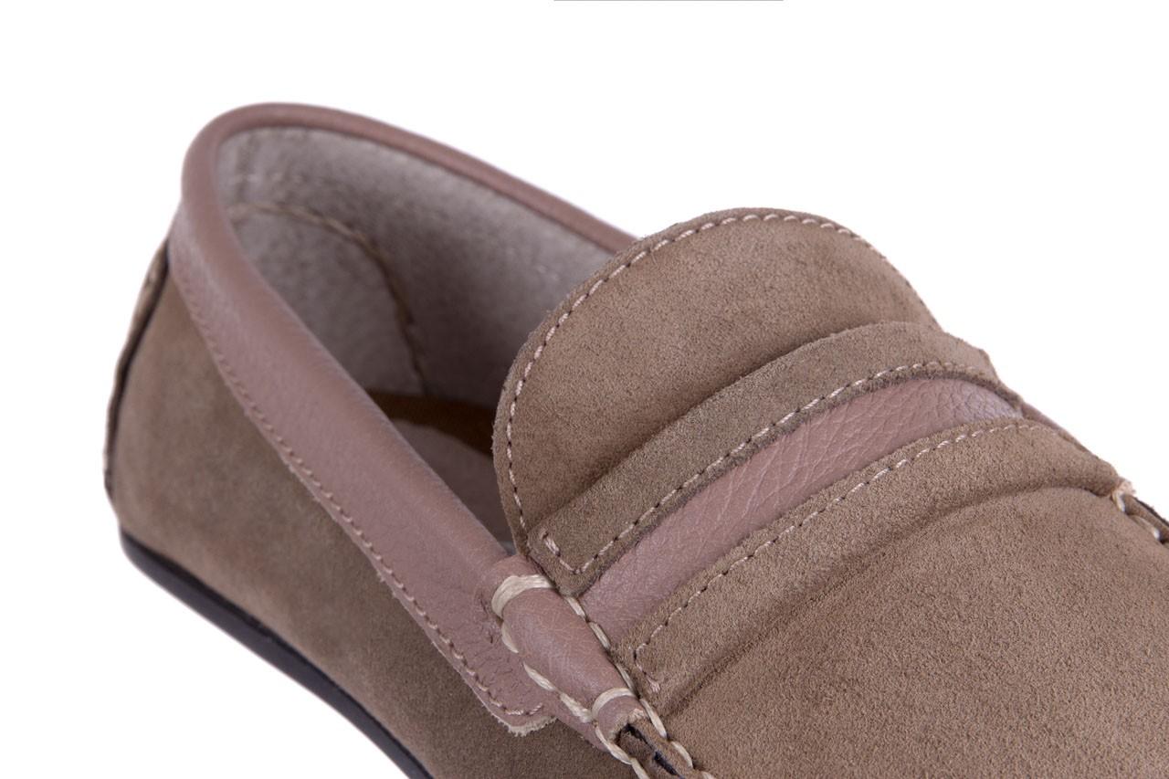Mokasyny bayla-133 6103 camoscio tortora, beż, skóra naturalna  - mokasyny i espadryle - buty męskie - mężczyzna 11