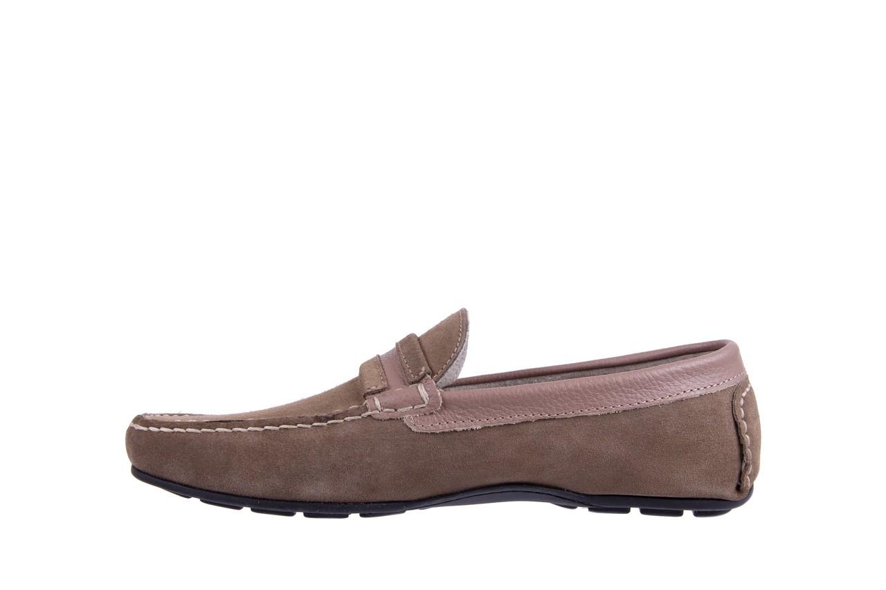 Mokasyny bayla-133 6103 camoscio tortora, beż, skóra naturalna  - mokasyny i espadryle - buty męskie - mężczyzna 8