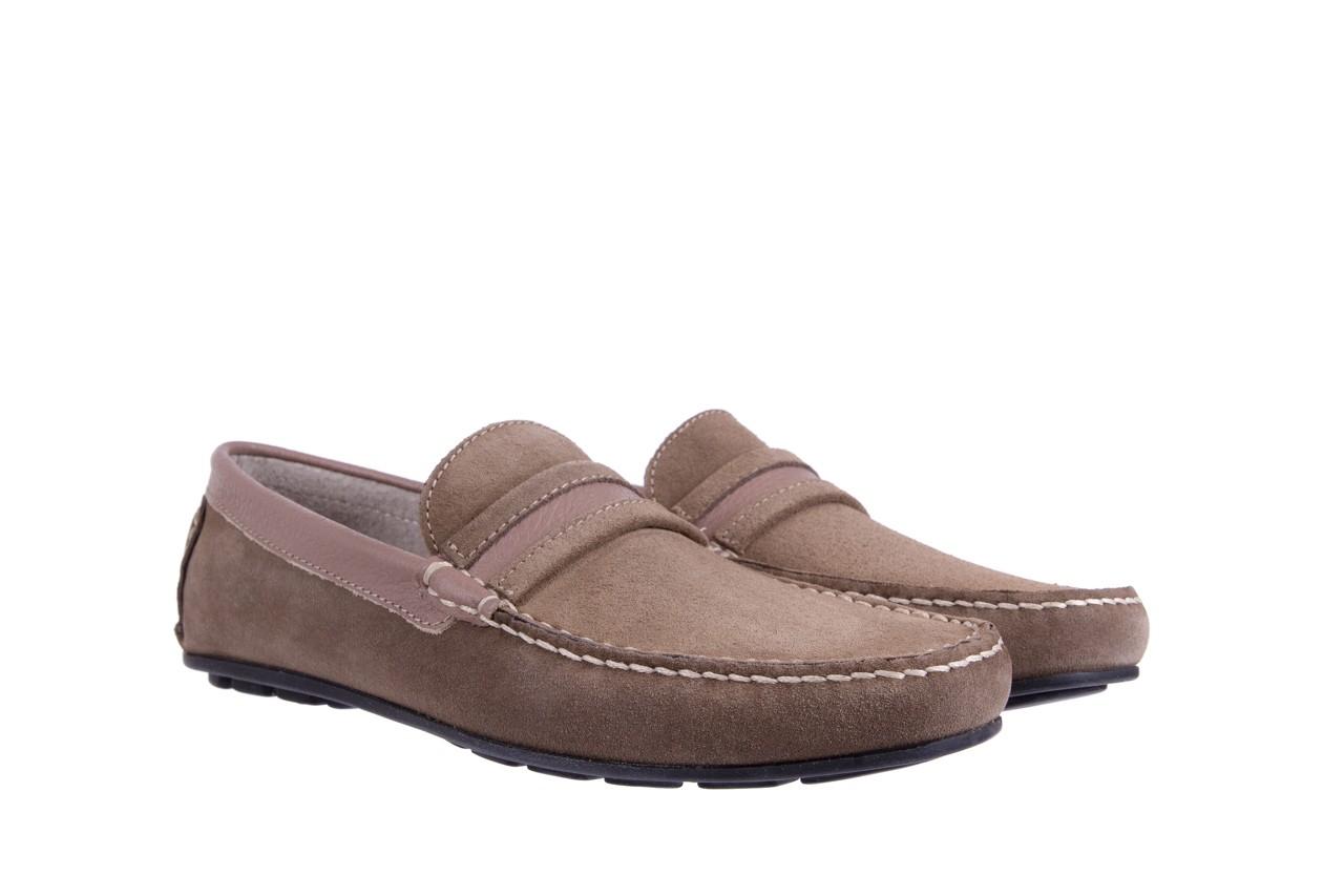 Mokasyny bayla-133 6103 camoscio tortora, beż, skóra naturalna  - mokasyny i espadryle - buty męskie - mężczyzna 7