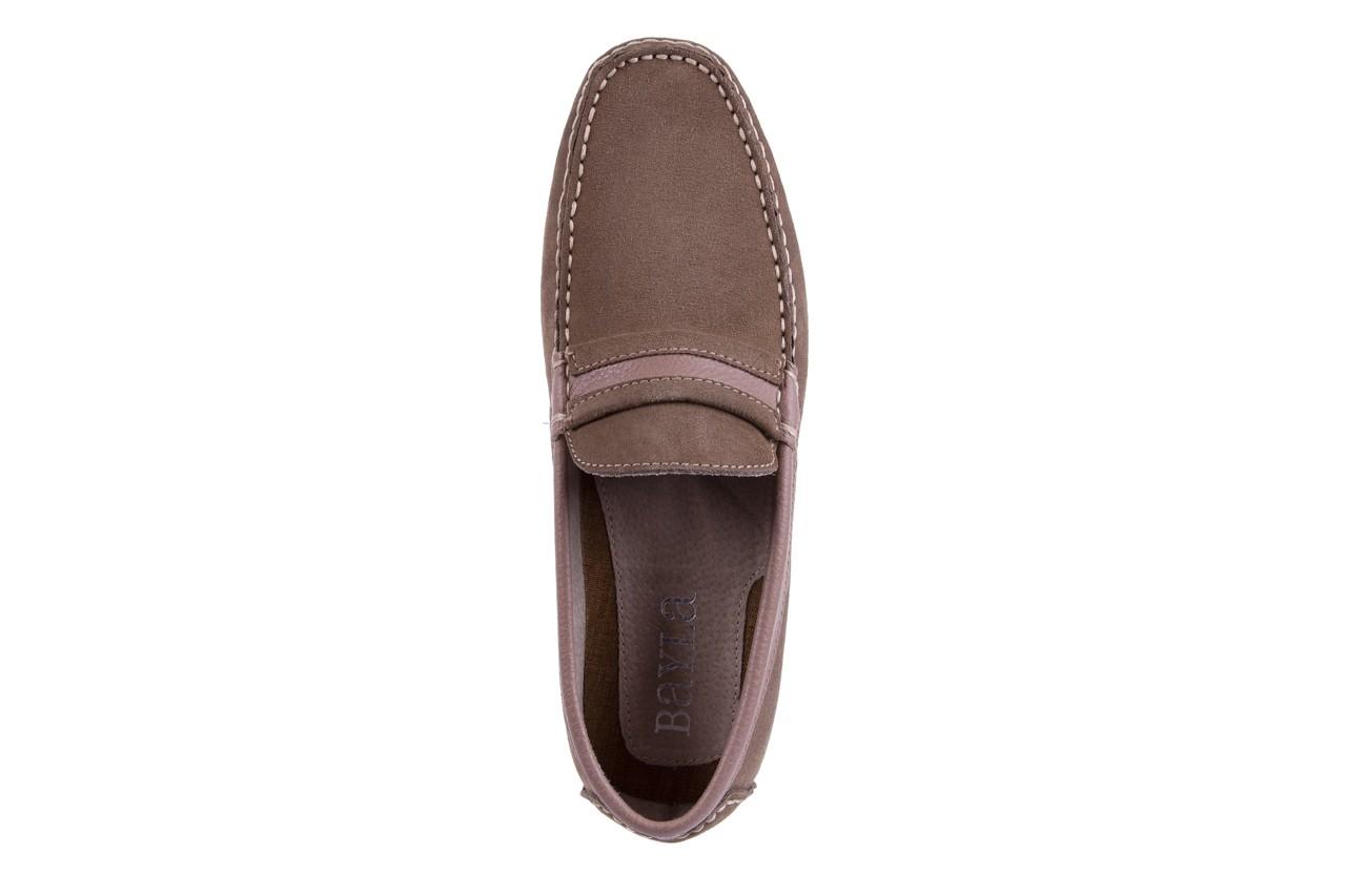Mokasyny bayla-133 6103 camoscio tortora, beż, skóra naturalna  - mokasyny i espadryle - buty męskie - mężczyzna 10