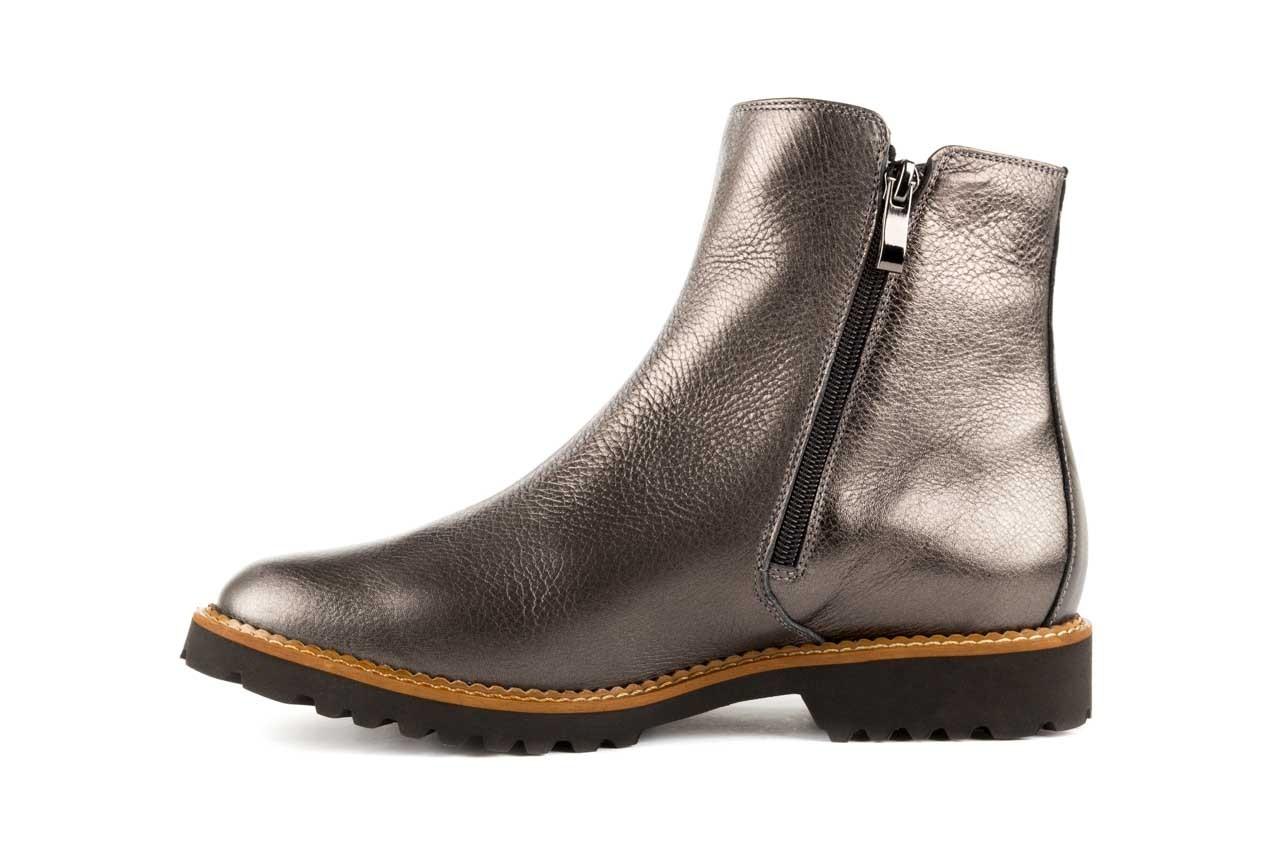 Botki bayla-622 16610 antracyt, braz, skóra naturalna - worker boots - trendy - kobieta 8