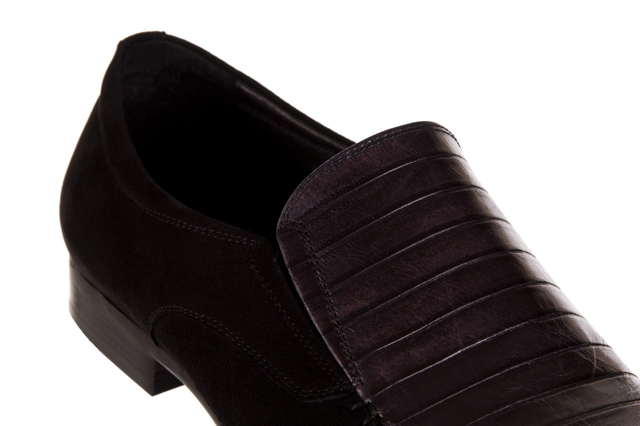Mokasyny brooman 1352-46ea black, czarny, skóra naturalna  - brooman - nasze marki 11