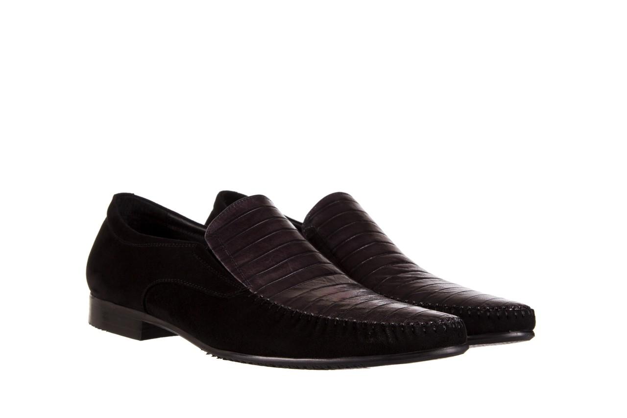 Mokasyny brooman 1352-46ea black, czarny, skóra naturalna  - mokasyny i espadryle - buty męskie - mężczyzna 7