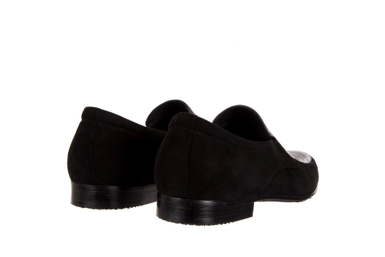 Mokasyny brooman 1352-46ea black, czarny, skóra naturalna  - mokasyny i espadryle - buty męskie - mężczyzna 9