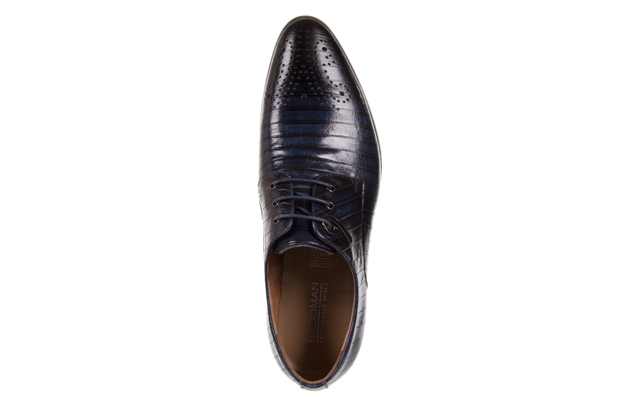Półbuty brooman 1356-35h593 blue, granat, skóra naturalna  - brooman - nasze marki 10