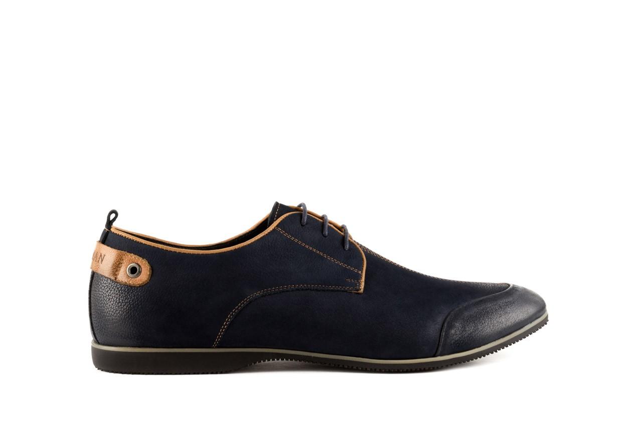 Półbuty brooman 1782-58h99 blue, granat, skóra naturalna - rozmiar 45 - mężczyzna - mega okazje - ostatnie rozmiary 6