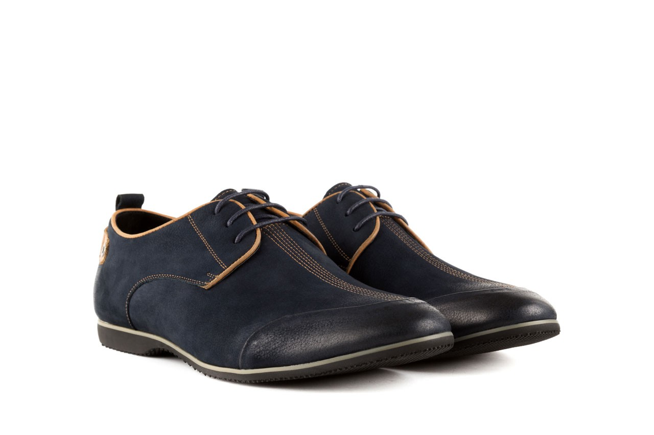 Półbuty brooman 1782-58h99 blue, granat, skóra naturalna - rozmiar 45 - mężczyzna - mega okazje - ostatnie rozmiary 7
