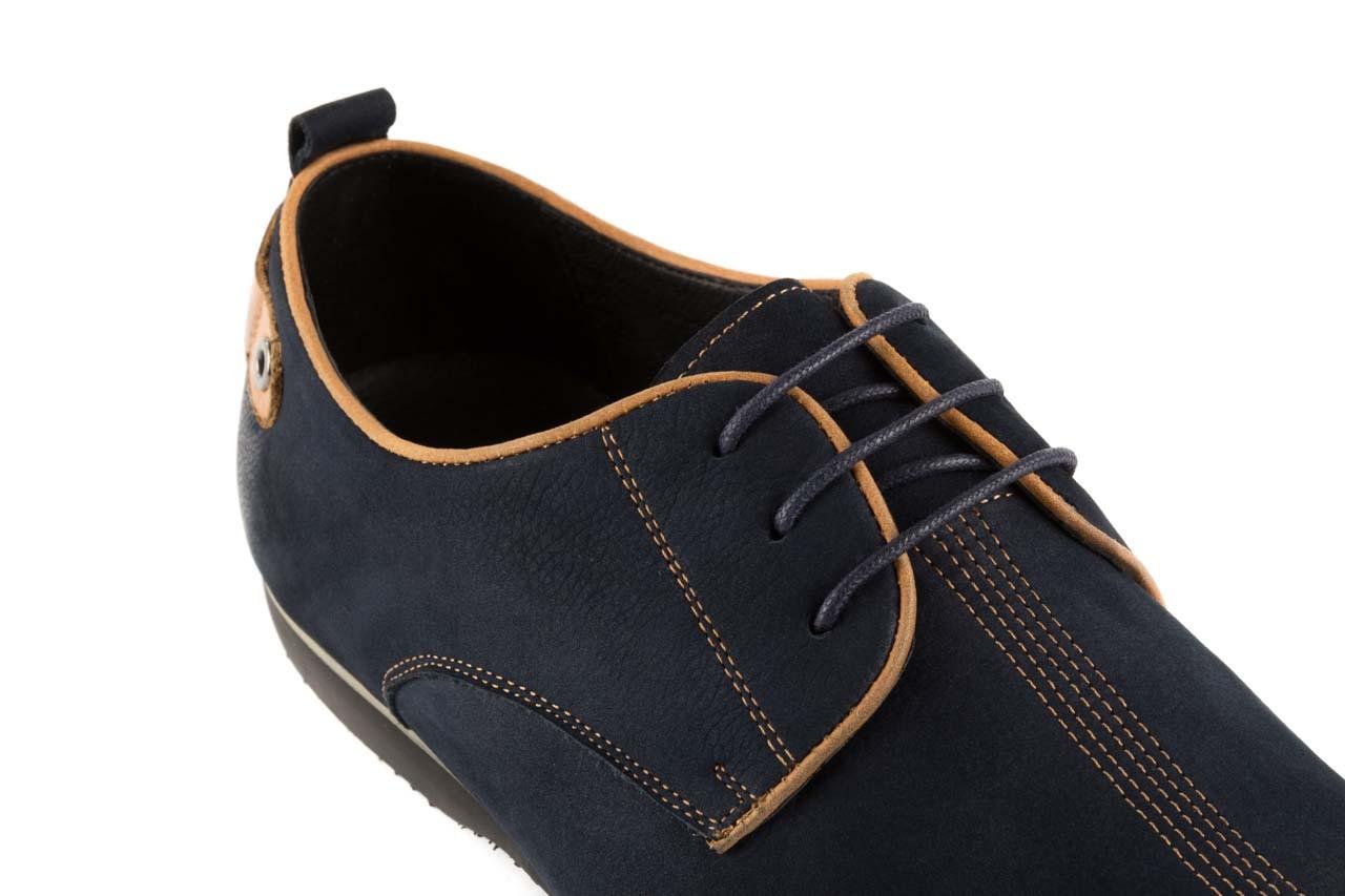 Półbuty brooman 1782-58h99 blue, granat, skóra naturalna - rozmiar 45 - mężczyzna - mega okazje - ostatnie rozmiary 11