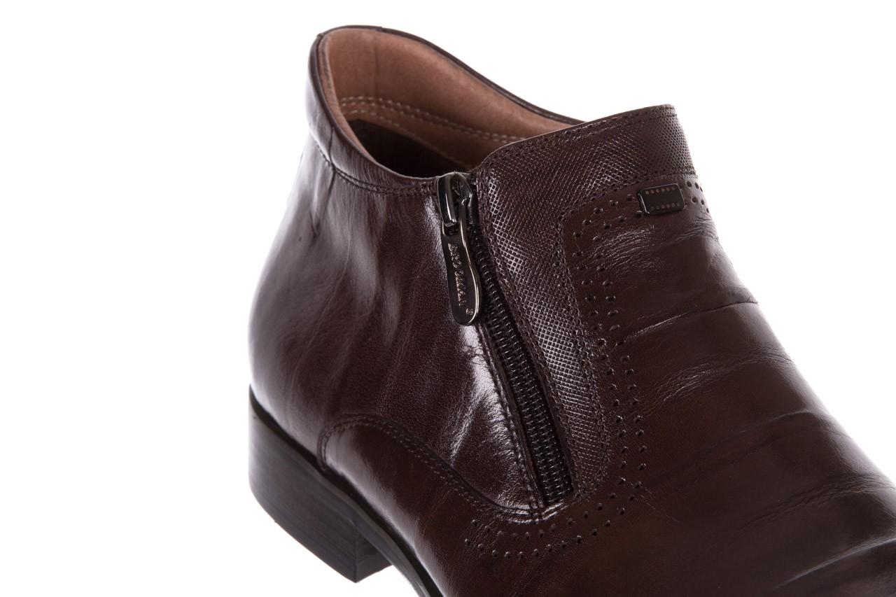 Trzewiki brooman 7721b-702g132-r coffee 18, brąz, skóra naturalna  - bayla exclusive - trendy - mężczyzna 11