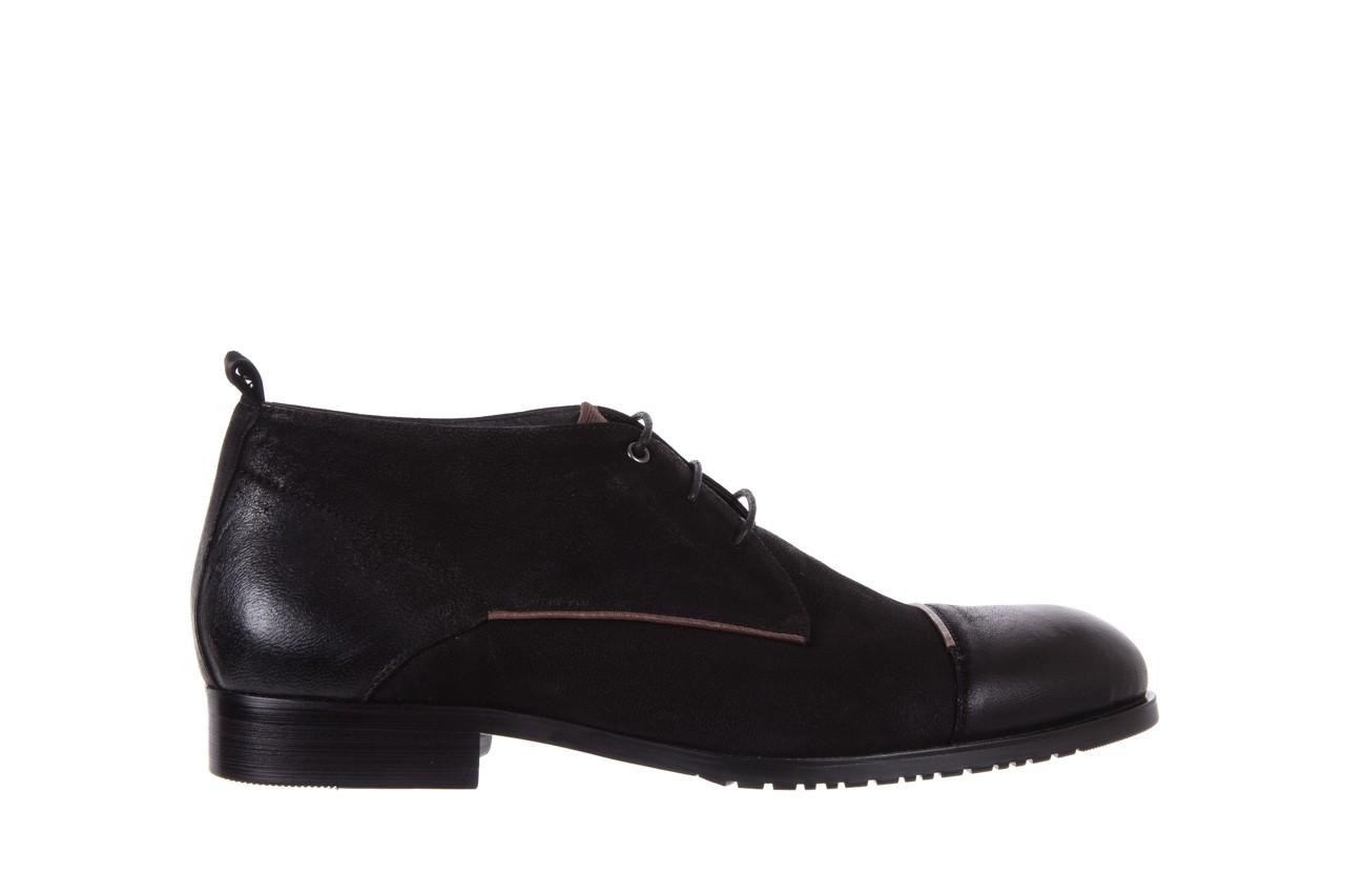 Trzewiki brooman 7738b-702h642-r black, czarny, skóra naturalna  - obuwie wizytowe - dla niego - sale 7