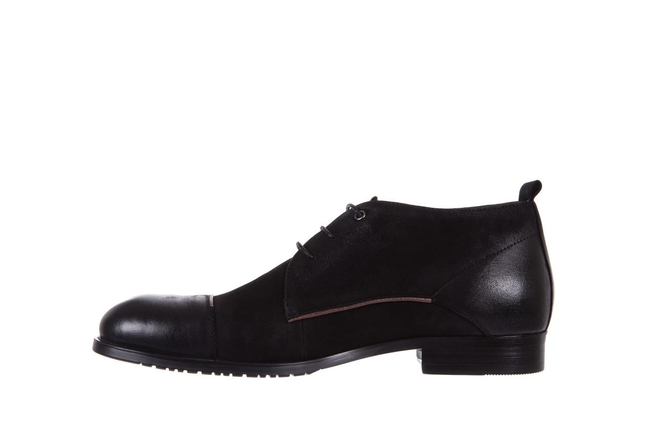 Trzewiki brooman 7738b-702h642-r black, czarny, skóra naturalna  - obuwie wizytowe - dla niego - sale 9