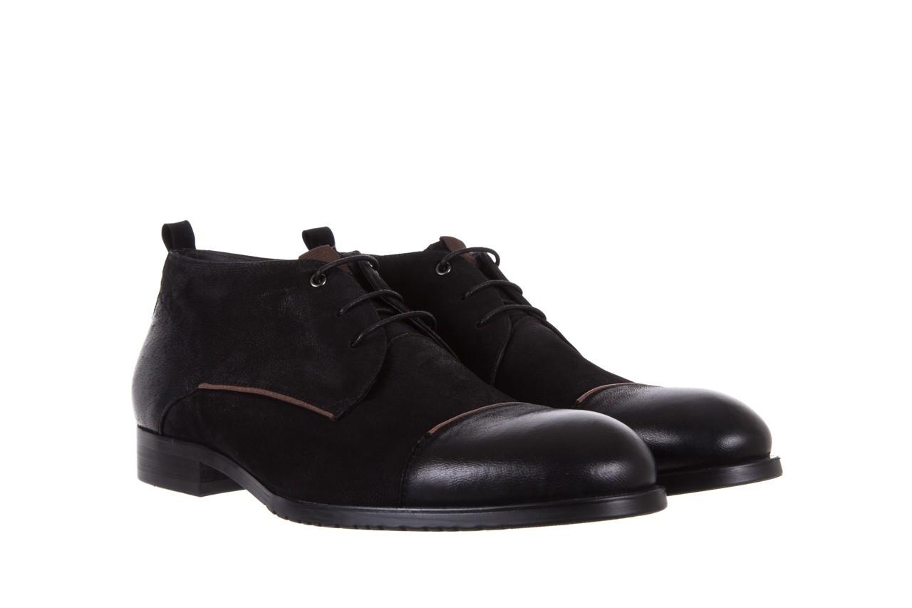 Trzewiki brooman 7738b-702h642-r black, czarny, skóra naturalna  - obuwie wizytowe - dla niego - sale 8