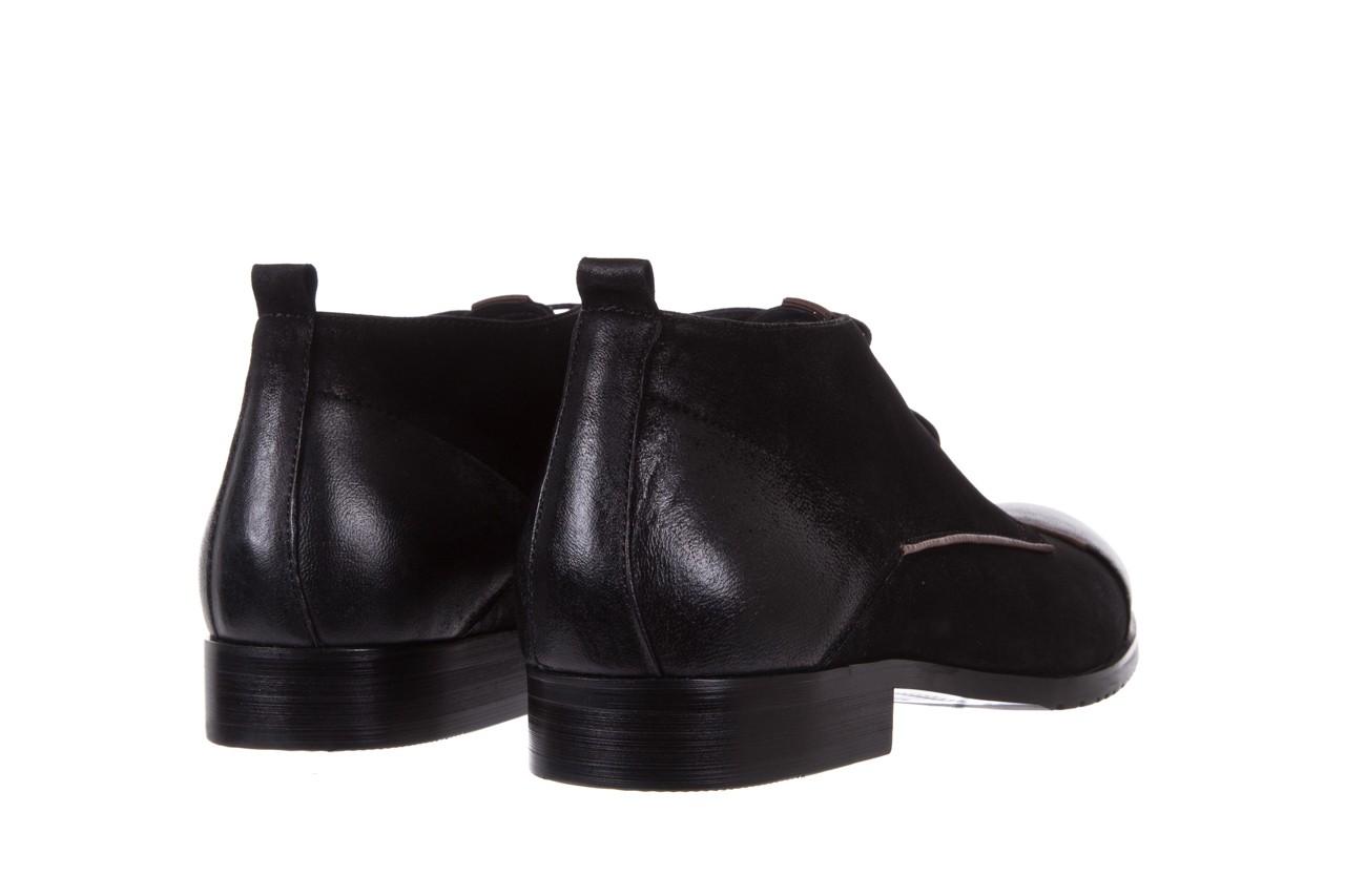 Trzewiki brooman 7738b-702h642-r black, czarny, skóra naturalna  - obuwie wizytowe - dla niego - sale 10