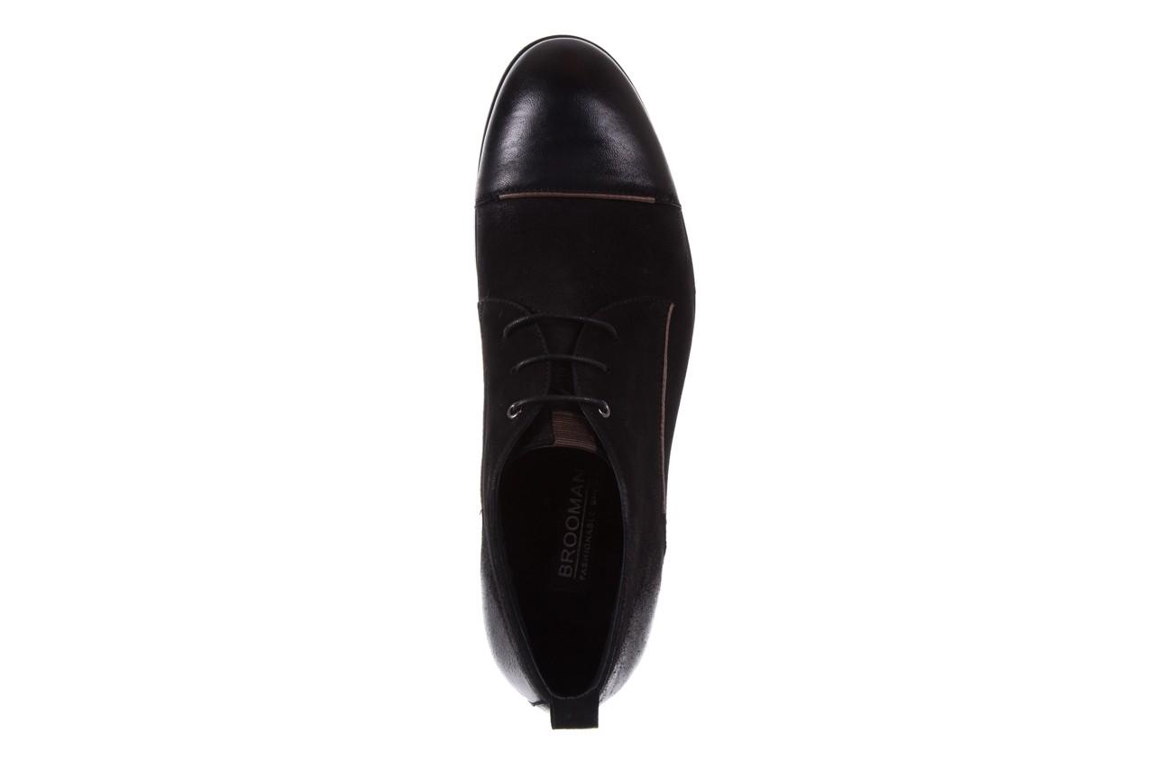 Trzewiki brooman 7738b-702h642-r black, czarny, skóra naturalna  - obuwie wizytowe - dla niego - sale 11