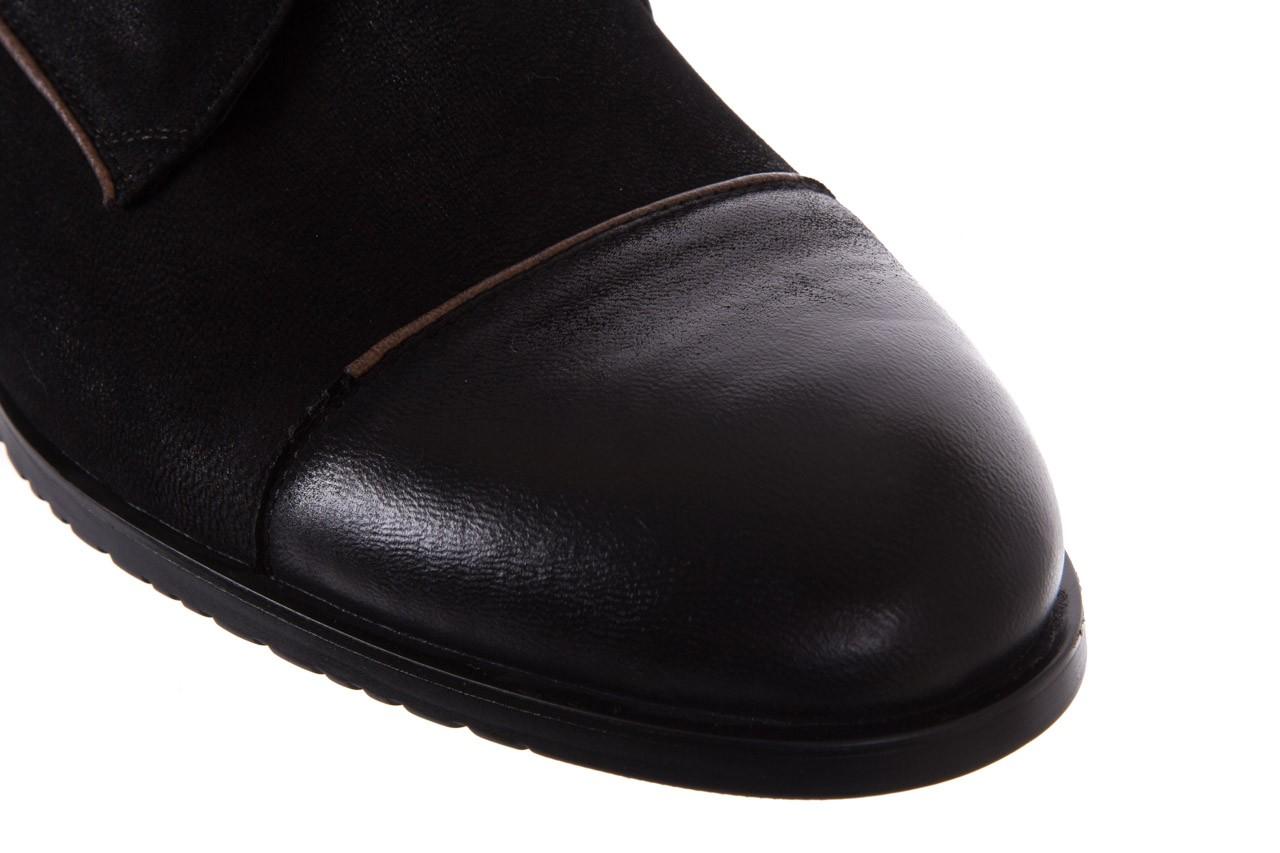 Trzewiki brooman 7738b-702h642-r black, czarny, skóra naturalna  - obuwie wizytowe - dla niego - sale 12