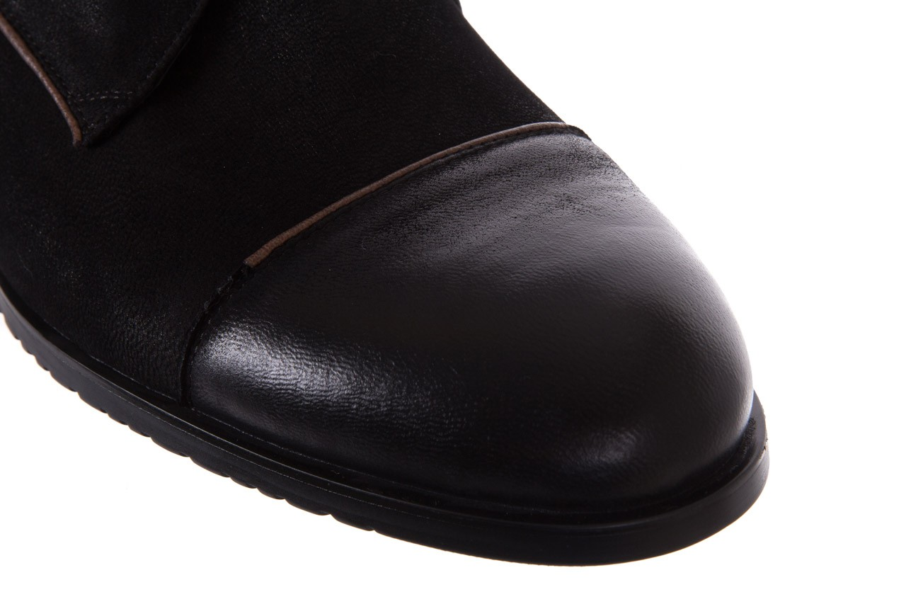 Trzewiki brooman 7738b-702h642-r black, czarny, skóra naturalna  - brooman - nasze marki 12