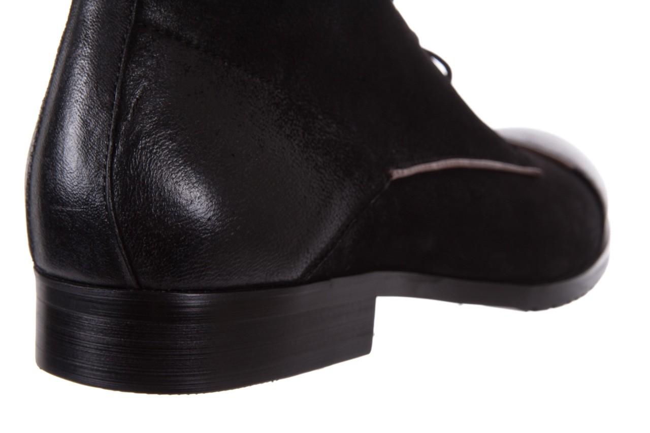 Trzewiki brooman 7738b-702h642-r black, czarny, skóra naturalna  - obuwie wizytowe - dla niego - sale 13