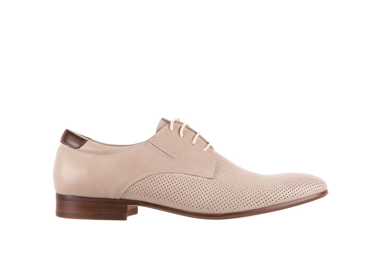 Półbuty brooman 7760-207h721 beige, beż, skóra naturalna  - obuwie wizytowe - buty męskie - mężczyzna 6